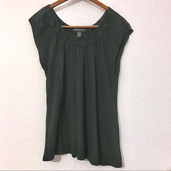 0da28a45a36c INC International Concepts Tops | 425 Inc Black T Shirt With Ruched ...